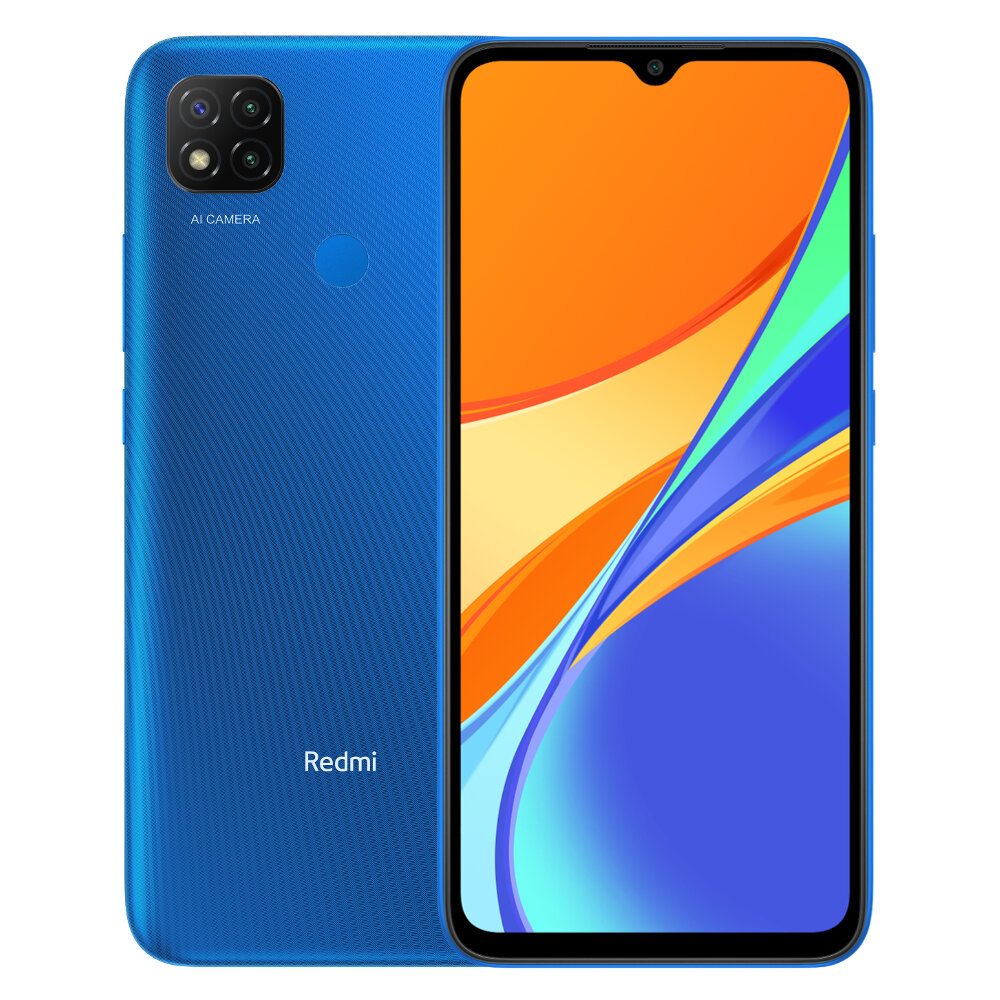 Xiaomi Redmi 9C 6.53 inch 3GB 64GB 13MP Triple Camera 5000mAh MTK Helio G35 Octa core 4G Smartphone - Twilight Blue