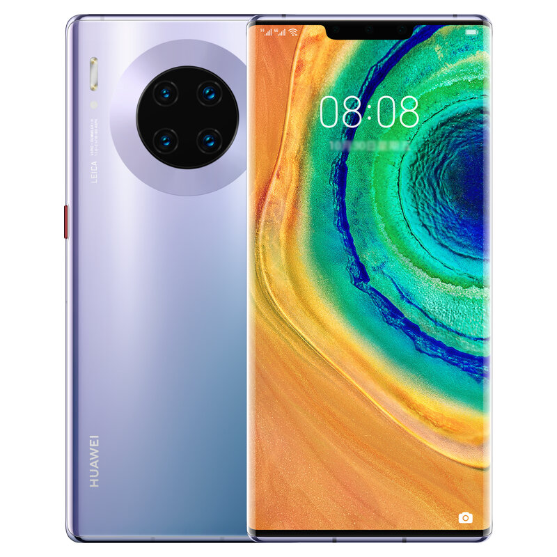 HUAWEI Mate 30E Pro 6.53 inch 40MP Quad Rear Camera 8GB 128GB NFC 4500mAh Wireless Charge Kirin 990E Octa Core 5G Smartphone - Silver