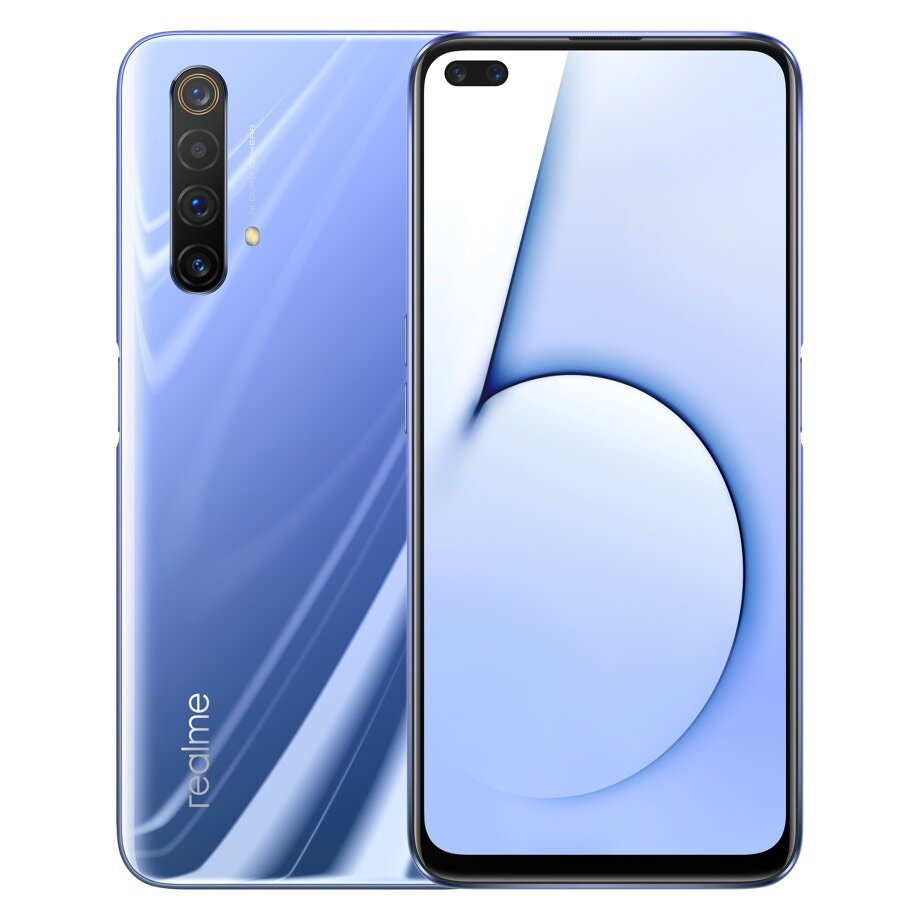 Realme X50 5G CN Version 6.57 inch FHD+ 120Hz Refresh Rate NFC Android 10.0 4200mAh 30W VOOC 4.0 64MP Quad Rear Cameras 12GB 256GB Snapdragon 765G Octa Core Smartphone - Blue