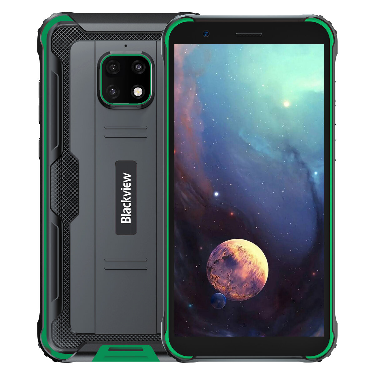 Blackview BV4900 IP68/IP69K 5.7 inch NFC Android 10 5580mAh 3GB 32GB Helio A22 Quad Core 4G Smartphone - Green