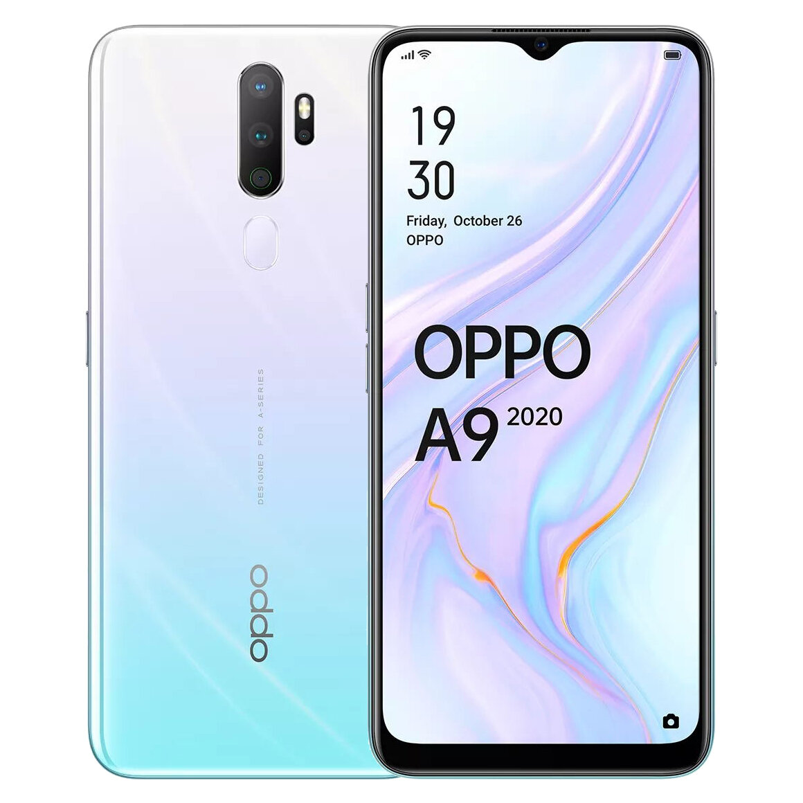 OPPO A9 2020 6.5 inch HD+ 5000mAh Android 9.0 48MP Quad Rear Cameras 8GB 128GB Snapdragon 665 Octa Core 4G Smartphone - Vanilla Mint