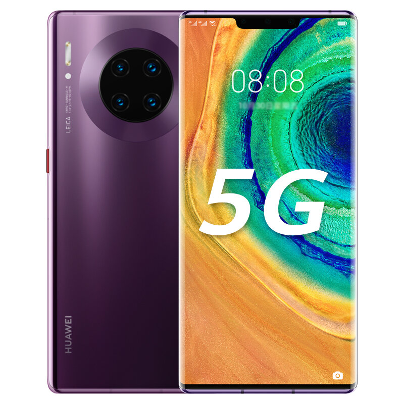 HUAWEI Mate 30E Pro 6.53 inch 40MP Quad Rear Camera 8GB 128GB NFC 4500mAh Wireless Charge Kirin 990E Octa Core 5G Smartphone - Purple