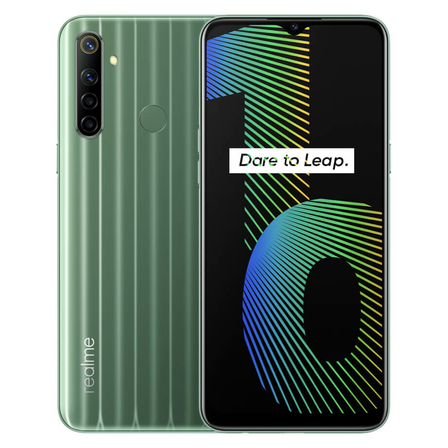 Realme Narzo 10 IN Version 6.5 inch 5000mAh Android 10 48MP AI Quad Camera 4GB 128GB Helio G80 4G Smartphone - Green