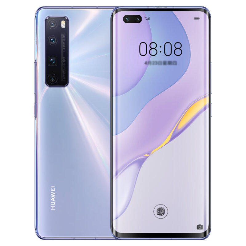 HUAWEI Nova 7 Pro CN Version 6.57 inch 50X Zoom 64MP Quad Rear Camera 8GB 128GB NFC Kirin 985 Octa Core 5G Smartphone - Silver