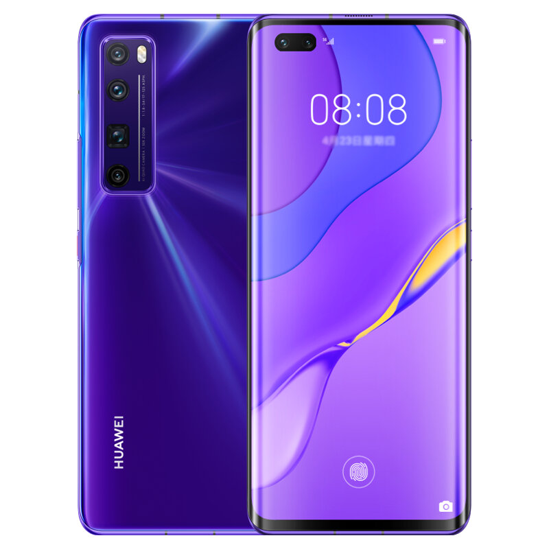 HUAWEI Nova 7 Pro CN Version 6.57 inch 50X Zoom 64MP Quad Rear Camera 8GB 128GB NFC Kirin 985 Octa Core 5G Smartphone - Purple