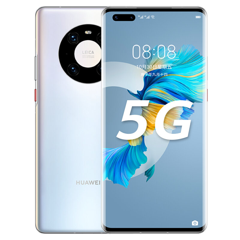 HUAWEI Mate 40 Pro CN Version 6.76 inch 8GB 256GB 50MP Rear Camera 66W Fast Charge Kirin 9000 Octa Core 5G Smartphone - Silver