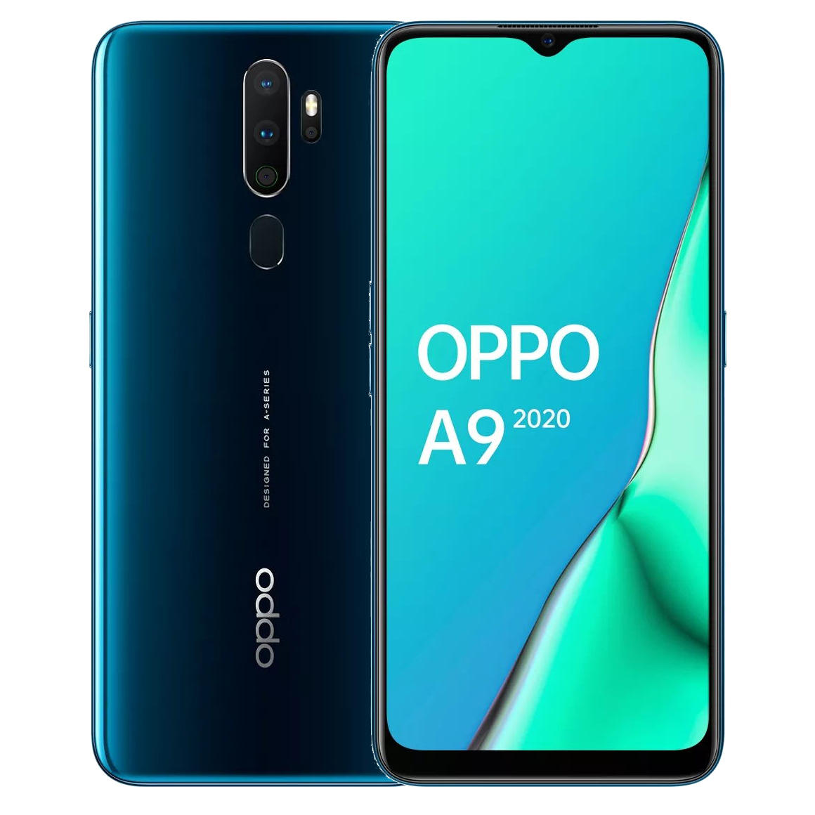 OPPO A9 2020 6.5 inch HD+ 5000mAh Android 9.0 48MP Quad Rear Cameras 8GB 128GB Snapdragon 665 Octa Core 4G Smartphone - Marine Green