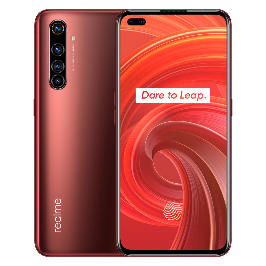 Realme X50 Pro 5G IN Version 6.44 inch FHD+ 90Hz Refresh Rate NFC Android 10 65W SuperDart Charge 64MP AI Quad Rear Camera 8GB 128GB Snapdragon 865 Smartphone - Red