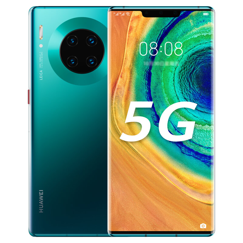 HUAWEI Mate 30E Pro 6.53 inch 40MP Quad Rear Camera 8GB 128GB NFC 4500mAh Wireless Charge Kirin 990E Octa Core 5G Smartphone - Emerald Green