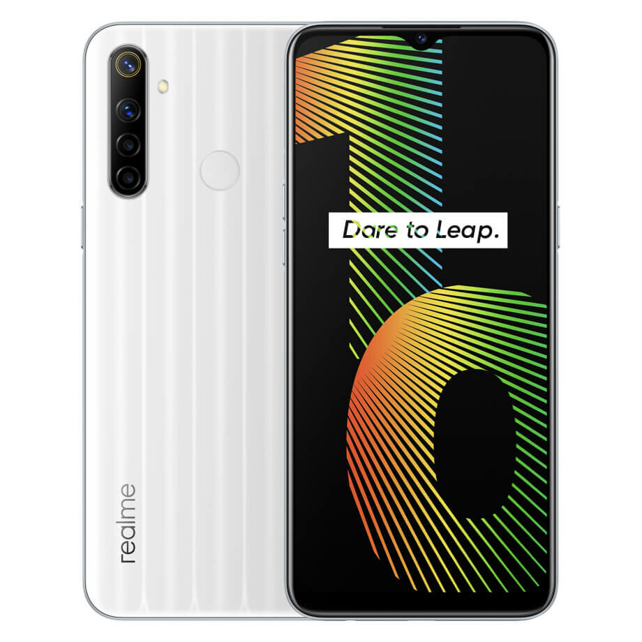 Realme Narzo 10 IN Version 6.5 inch 5000mAh Android 10 48MP AI Quad Camera 4GB 128GB Helio G80 4G Smartphone - White