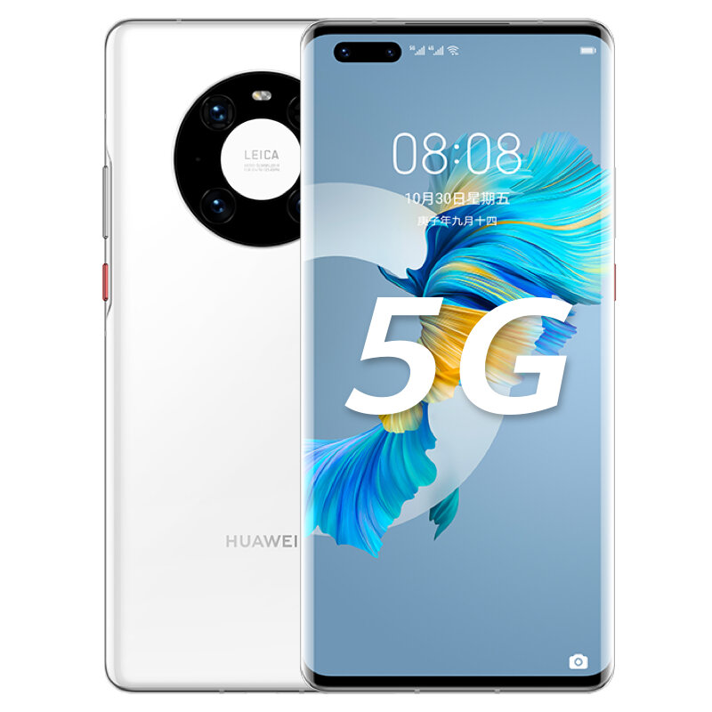 HUAWEI Mate 40 Pro CN Version 6.76 inch 8GB 256GB 50MP Rear Camera 66W Fast Charge Kirin 9000 Octa Core 5G Smartphone - White