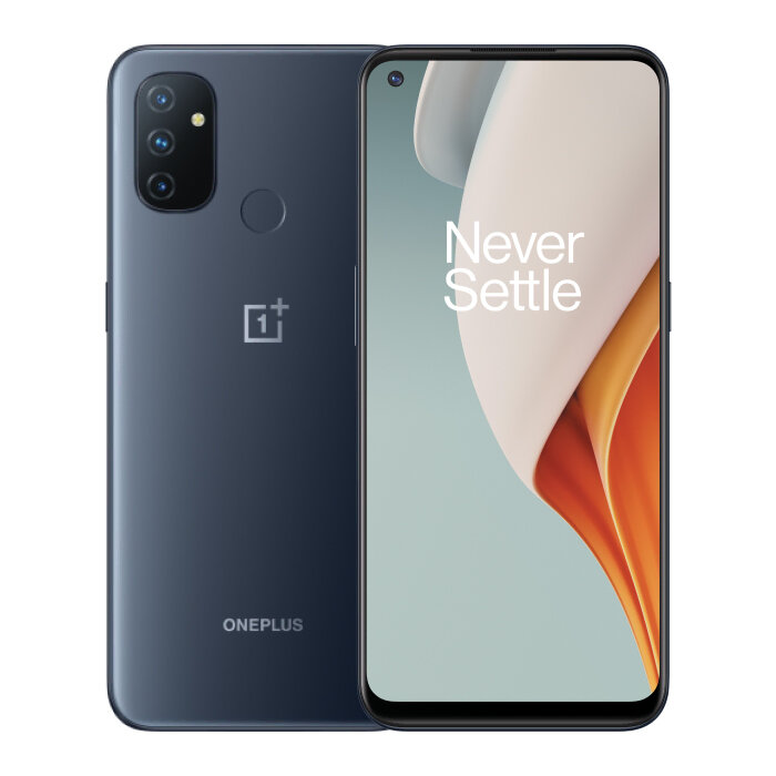 OnePlus Nord N100 UK Version 6.52 inch HD+ 90Hz Refresh Rate Android 10 5000mAh 13MP Triple Rear Camera 4GB 64GB Snapdragon 460 4G Smartphone - Midnight Frost