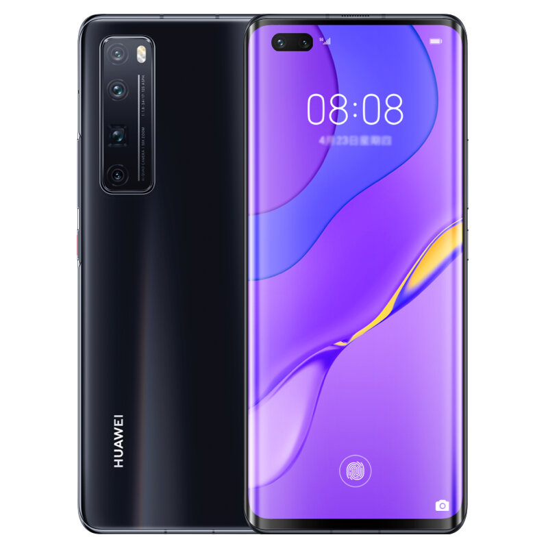 HUAWEI Nova 7 Pro CN Version 6.57 inch 50X Zoom 64MP Quad Rear Camera 8GB 128GB NFC Kirin 985 Octa Core 5G Smartphone - Black