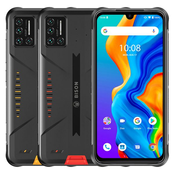 UMIDIGI BISON Global Bands IP68&IP69K Waterproof NFC Android 10 5000mAh 6GB 128GB Helio P60 6.3 inch FHD+ 48MP Quad Rear Camera 24MP Front Camera 4G Smartphone