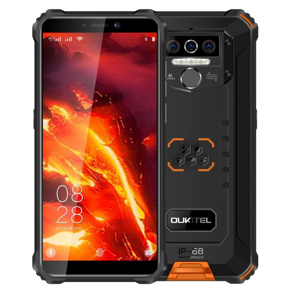 OUKITEL WP5 Pro Global Version 5.5 inch IP68/IP69K Waterproof 8000mAh Android 10 13MP Triple Rear Camera 4GB 64GB MT6762D 4G Smartphone