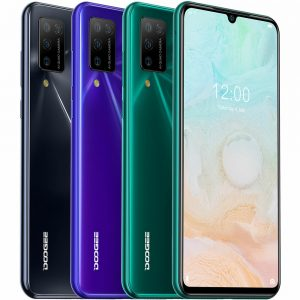 DOOGEE N20 Pro Global Version 6.3 inch FHD+ 6GB 128GB Helio P60 Android 10 4400mAh 16MP Quad Rear Camera Octa Core 4G Smartphone
